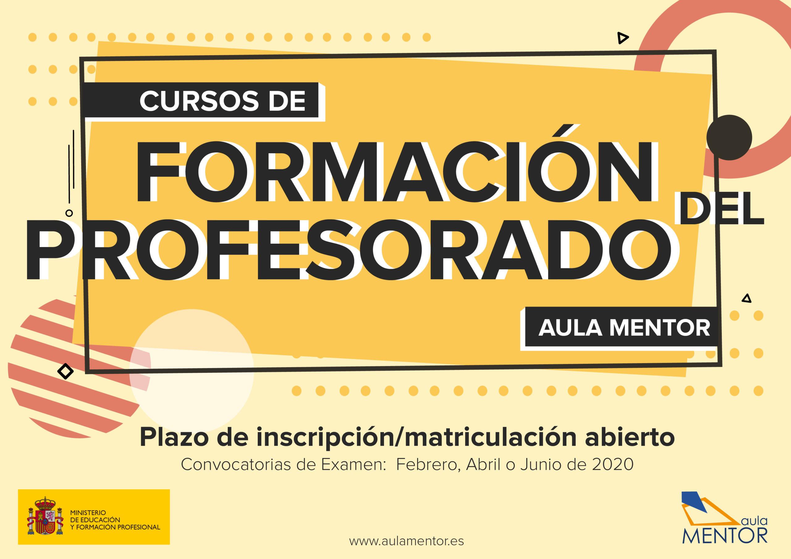 Convocatoria de Formación del Profesorado de Aula Mentor.