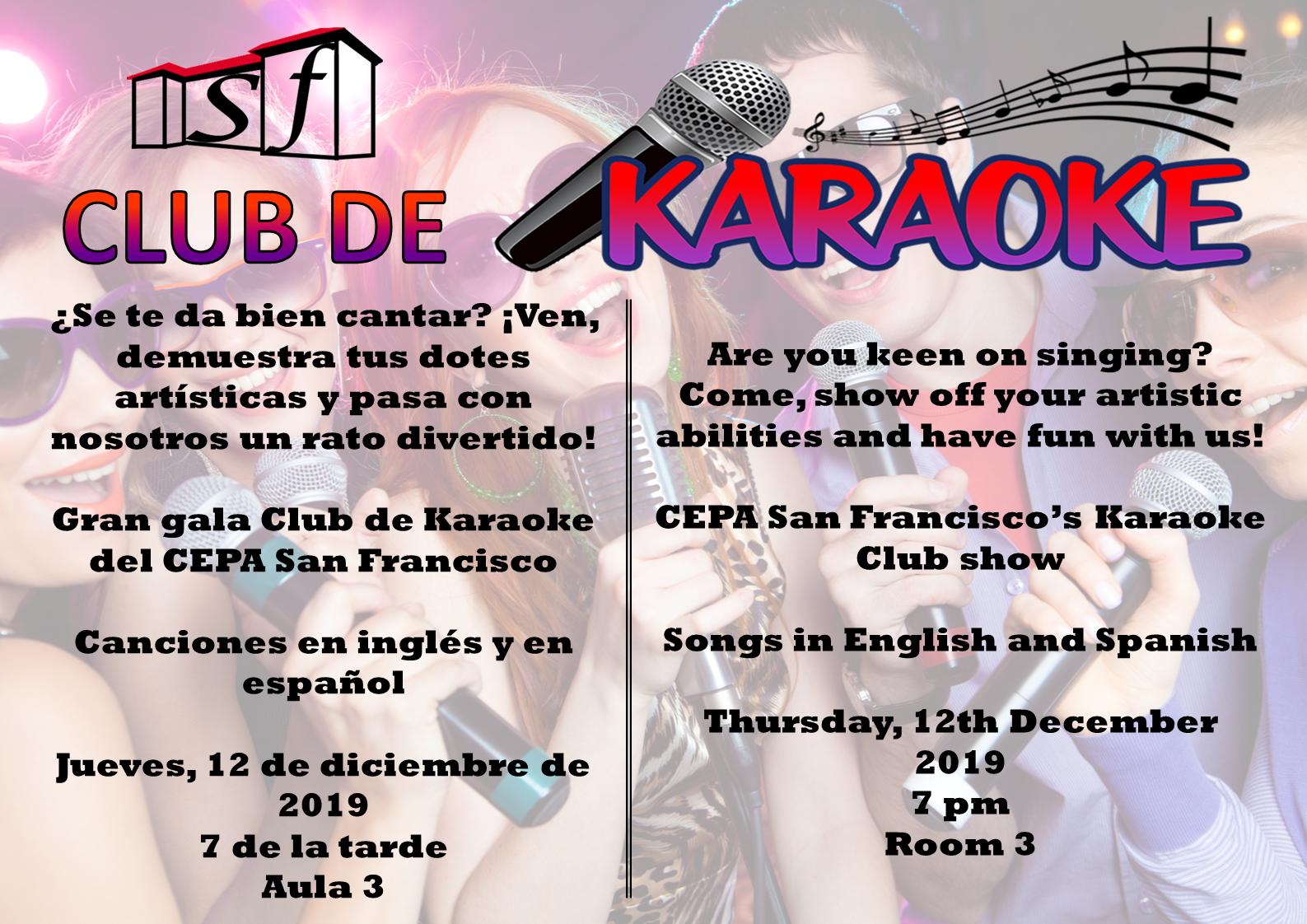 Concurso de karaoke CEPA 2019